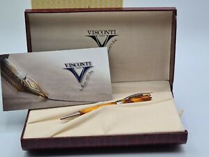 Visconti Opera Club Summer Yellow (Orange Marbled) Ballpoint BNIB