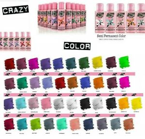 Crazy Color Hair dye Colour Semi Permanent temporary Conditioning Hair 100ml