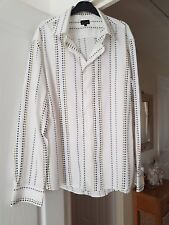 Men's LIME White Multi Coloured Spotty Shirt, Smart, Size XL (Chest 48/50) VGC