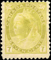 Used Canada 1902 7c F Scott #81 Queen Victoria Numeral Issue Stamp