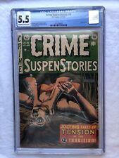 Crime SuspenStories # 19 CGC 5.5 (1953) EC Comics Pre-Code Horror PCH SOTI RARE