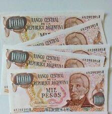 ARGENTINA BANK PAPER MONEY 1000 PESOS 1976 - 1983 (X 50 PCS) from bundle