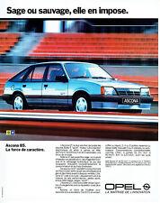 Publicité Advertising 107 1984   Opel Ascona GT