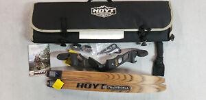 "Hoyt Satori 17"" RH Black Out Riser with Medium Maple Limbs"