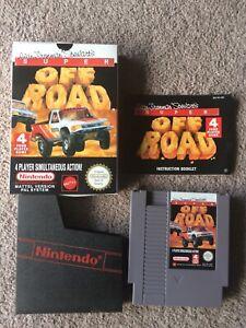 NES Super Off Road Game Boxed Cartridge Manual Booklet SNES Nintendo Original