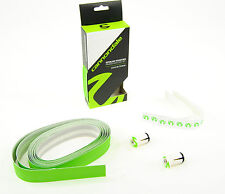 CANNONDALE Superlight Microfiber Premium HANDLEBAR TAPE WITH END PLUGS, Green