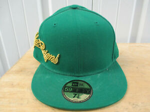 VINTAGE SUPREME KNOWLEDGE REIGNS 7 1/2 GREEN GOLD S/S 2005 CAP HAT PREOWNED