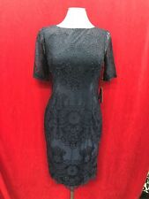 ADRIANNA PAPELL DRESS/NAVY/SIZE 12/LENGTH 40/RETAIL$249/NEW WITH TAG/LINED/