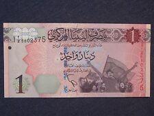 Libya Banknote 1 Dinar   UNC 2013 issue  Revolution  post Gaddafi