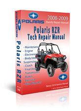 BEST - Polaris RZR RZR-S 800 EFI HO Service Repair Manual CD ONLY 2008