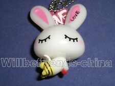 Angel Bee Rabbit Mobile Cell Phone Flash Bag Charm Backpack Pendant Key Chain