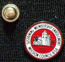 BSA mint 1988 Mission Council, Sustaining Membership Enrollment, (donation) Pin