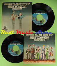 LP 45 7'' ENZO JANNACCI Secondo te che gusto c'e'? Saxophone 1977 no cd mc dvd*