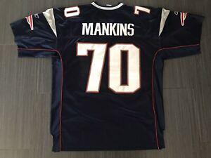 Authentic Reebok Logan Mankins New England Patriots Home Football Jersey Sz 50