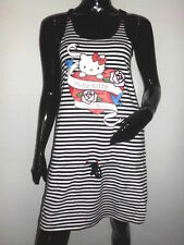 LEGERE ROBE H&M HELLO KITTY TYPE MARIN A RAYURE NOIR BLANCHE T:S EPAULES NUES