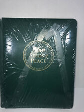 Green & Gold Foil Scrapbook Creative Memories 8.5x11 + 15 White Pages NEW Peace