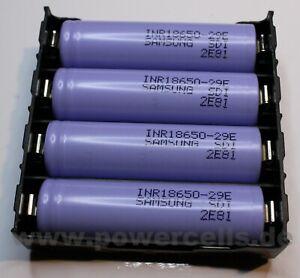 Akku Halterung mit Lötstick für Li-Ion 18650 Zellen 4x seriell oder 4x parallel