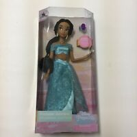 "NEW Disney Store Princess Jasmine Classic Doll 11 1/2"" & Ring Aladdin"