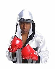 ADULT AMERICAN BOXER BOXING CHAMPION COSTUME GLOVES RED ROCKY MENS WOMENS