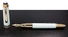 "NEW Mont Blanc Meisterstuck Mozart White Solitaire ""MINI"" Fountain Pen 111941"