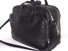 Coach Hamilton 24 Hour Black Smooth Leather Commuter Briefcase Bag F72224 $595