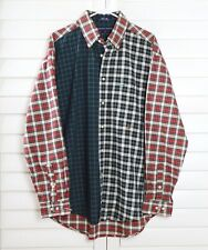 TOMMY HILFIGER NWT $69 Mens Patchwork Tartan Plaid Button Shirt Top Size Large