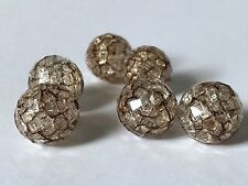 30 PCS 16mm brown bead acrylic spacer beads jewelry round crackle 5B transparent
