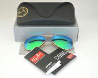 Ray Ban Sunglasses Aviator RB3025 112/19 55mm Gold Frame/Green Flash Lens Pilot