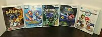 Lot of 5 Nintendo Wii Mario Galaxy Kart Winter Games Sonic Knight & Secret Rings