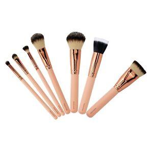 Pink rose gold 7pc makeup brush set