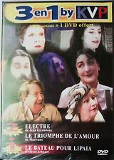 """3 DVD """"THÉÂTRE"""" ELECTRE / LE TRIOMPHE DE L'AMOUR / LE BATEAU POUR LIPAIA NEUF"""