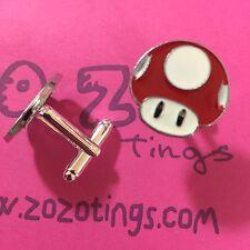Mario Mushroom Red Metal Cufflinks
