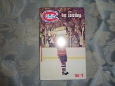 1978-79 MONTREAL CANADIENS MEDIA GUIDE Yearbook 1979 STANLEY CUP CHAMPIONS!! AD