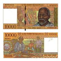 Pick 79b  Madagaskar /  Madagascar 10000 Francs 1995 Unc. /6699521vvv