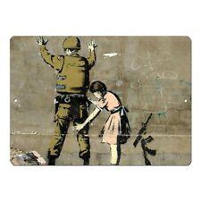 "Banksy Art Girl Searching Soldier Mini 5"" x 7"" Metal Sign"