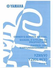 Yamaha owners service workshop manual 2006 YZ85, YZ85(V) YZ85LW(V)