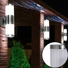 3x Edelstahl Außen Leuchten Up&Down Strahler Lampen Veranda Wand Beleuchtungen