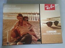 RAY BAN EYE WEAR DOUBLE SIDED  COUNTERCARD POSTER  SIZE 19.5 X 13.6 X 3.1 INCHES