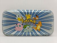 POKEMON CHARACTERS ACCESSORY NETWORK METAL TIN  PENCIL CARD STORAGE CASE     PK2