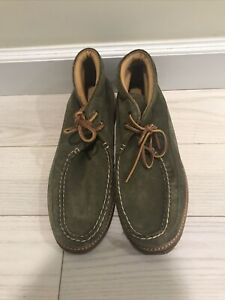 Men's Sperry Olive Green Nubuck Leather Chukka Boots Size 10.5 NEW WITHOUT TAGS