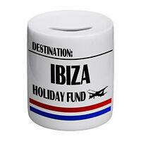 Destination Ibiza Holiday Fund Novelty Ceramic Money Box