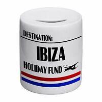 Destination Ibiza Holiday Fund Novelty Ceramic Money Box