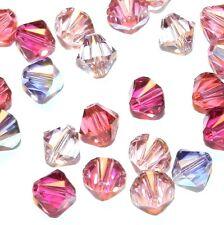 SCB5510 Love Struck Mix Pink & Purple 6mm Bicone Swarovski Crystal Beads 24pc
