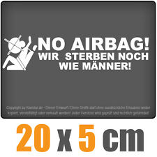No Airbag 20 x 5 cm JDM Decal Sticker Aufkleber Racing Die Cut