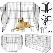 New listing 36 Inch 8 Panels Tall Dog Playpen Durable Crate Fence Pet Play Pen Exercise Cage