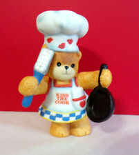 Lucy & Me Kiss The Cook Teddy Bear Enesco Figurine
