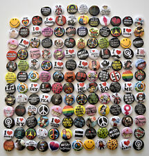 Wholesale Badges Bulk Lot x150 Mixed Assorted Designs Pins Pinback Buttons
