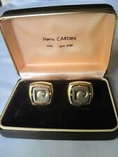 Pierre Cardin Logo Cufflinks, Big and Bold!  New Old Stock