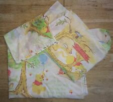 Classic Pooh Bear Sears Vintage Twin Sheet Set Fitted Flat Bedding Pillowcase