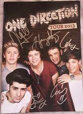 One Direction Signed Autograph Signature Tour Book Program Rare Harry Styles